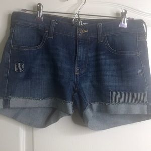 Old Navy Shorts - Old Navy blue jean denim cuffed shorts. 8